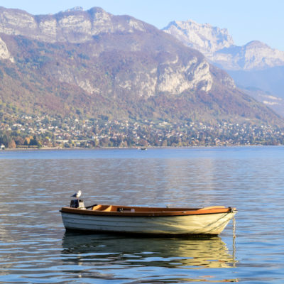 Boat on Lac d'Annecy
