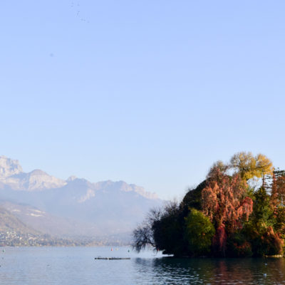 Island in Lake d'Annecy
