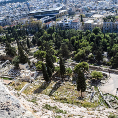 Looking down from Acropolis