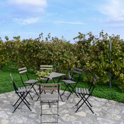 lyrarakis winery table set